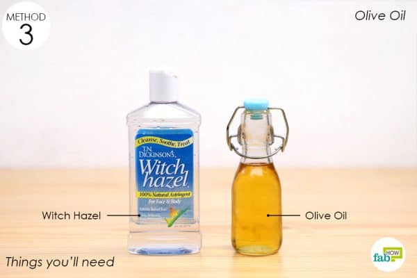 things you'll need to make olive oil and witch hazel eye makeup remover