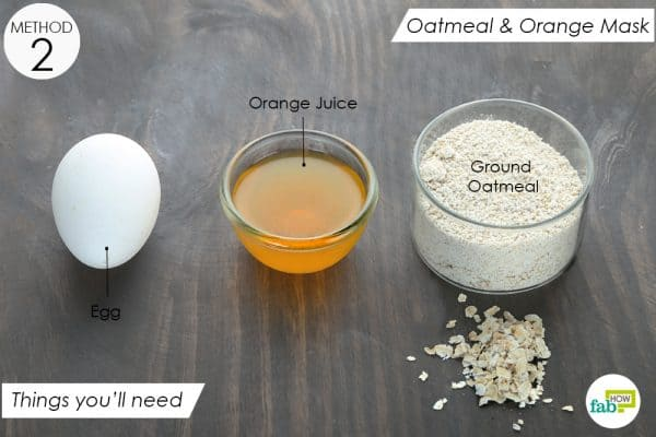 things you'll need to make oatmeal orange mask for oily skin