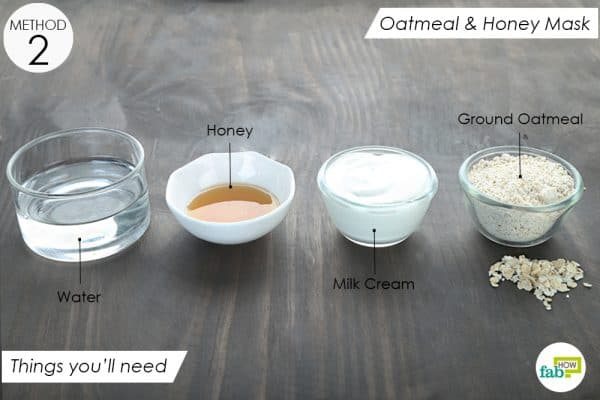 things you'll need to make oatmeal and honey face mask for dry skin