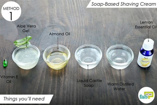 things you ll need to make diy homemaade shaving cream