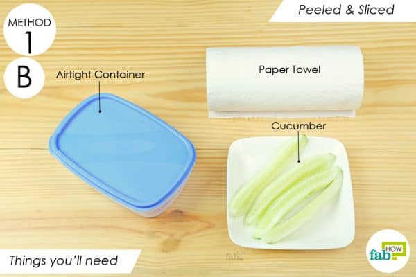 things you'll need to store the cucumber the right way