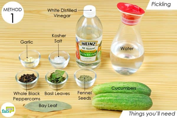 things you'll need to store the cucumbers the right way
