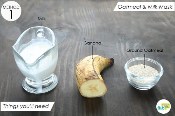things you'll need to make oatmeal and milk face mask for dry skin