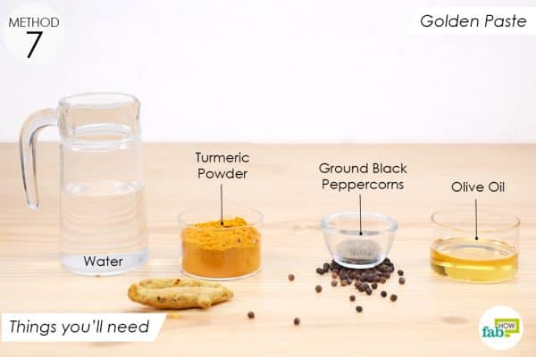 things you'll need to make golden paste