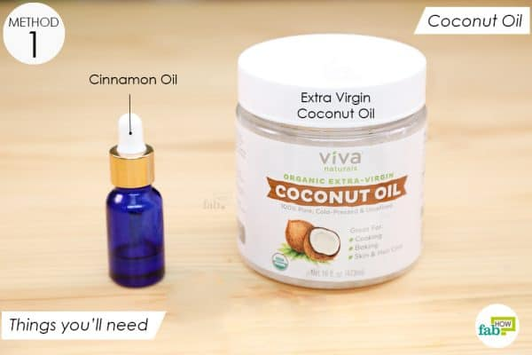 things you'll need to make coconut oil application to treat tinea versicolor
