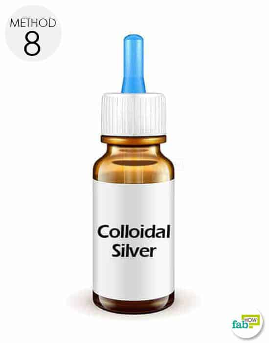 use colloidal silver for application on the affected area