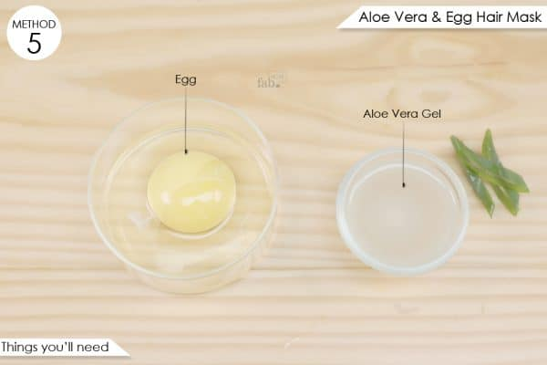 things you'll need to make aloe vera and egg hair mask