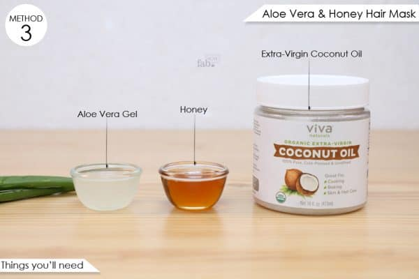 things you'll need to make aloe vera and honey hair masks