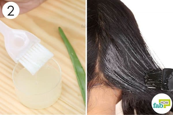 apply the mask on your scalp and hair