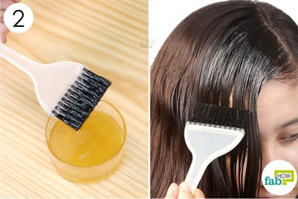 apply the mixture to your scalp and hair