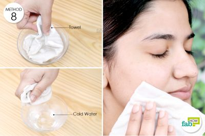 give yourself a cold compress on the affected area