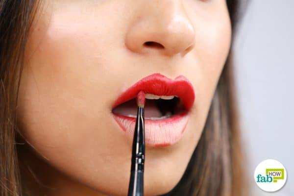 fill in the lipstick