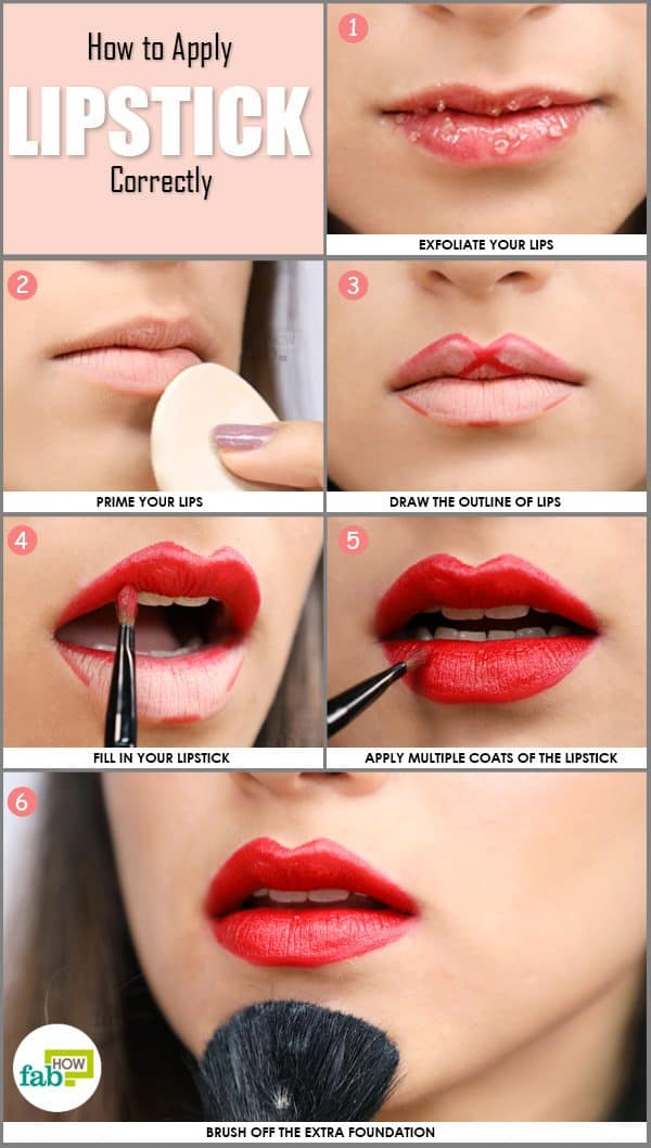 how to apply lipstick correctly