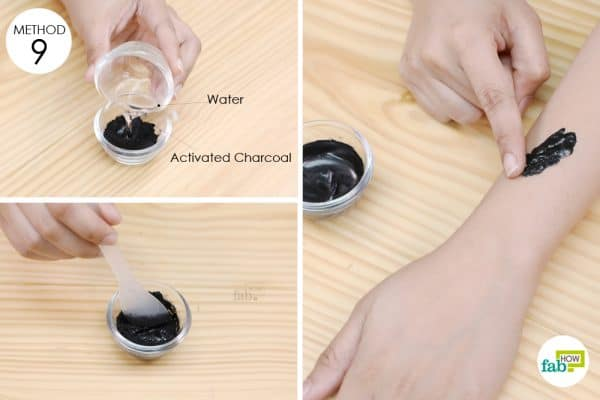 apply activated charcoal paste