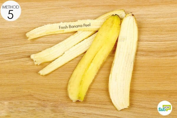 use the inner part of a banana peel to rub on your teeth to get rid of the white spots