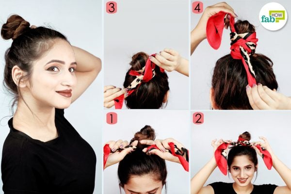 scarf bun process