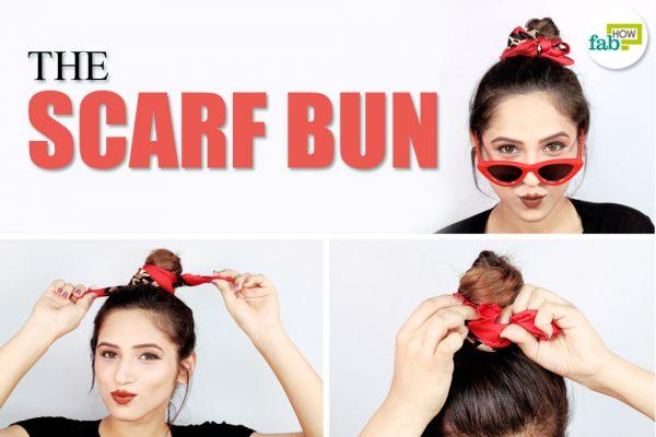 smart scarf bun