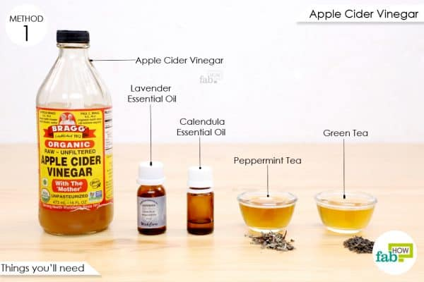 things you'll need to make anti-itch spray with apple cider vinegar