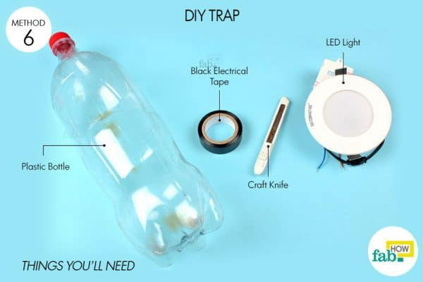 things you'll need to make a light trap for bugs