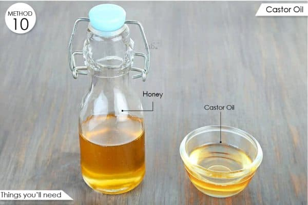 things you'll need to make castor oil blend to reduce pain and swelling