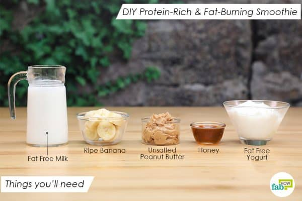 things you'll need to make DIY protein-rich & fat burning smoothie