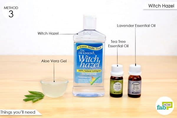 things you'll need to make witch hazel anti-itch spray for your dog