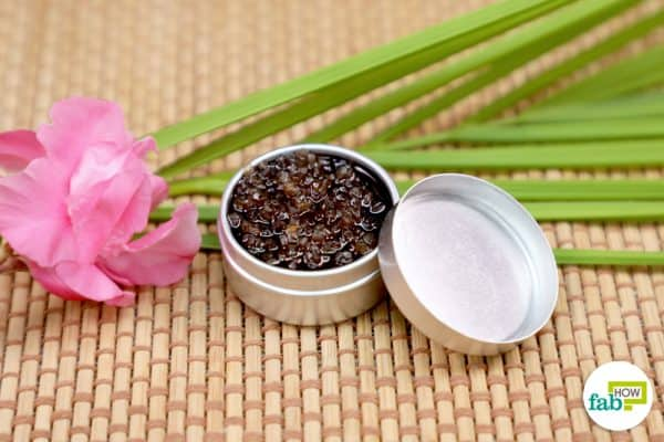 Your vanilla lip scrub is ready for use