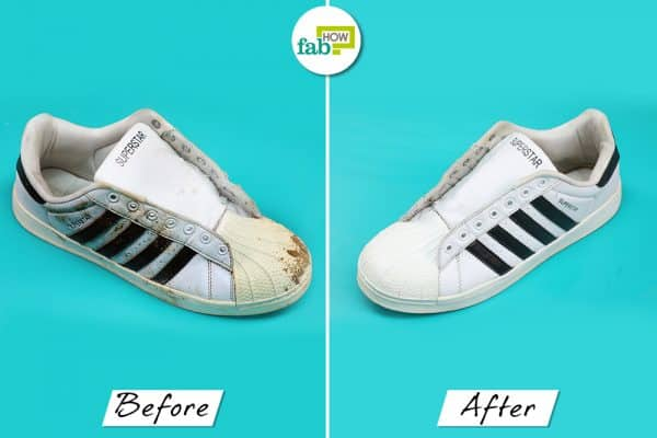 before after cleaning adidas superstar