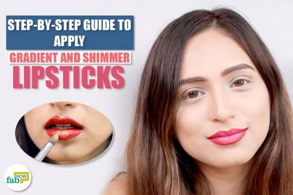 gradient shimmer lipstick