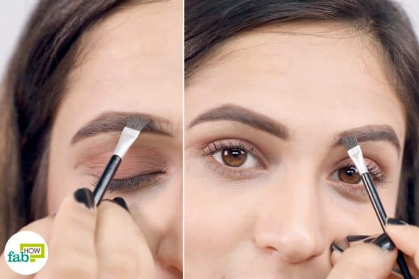 Apply brow powder to the eyebrowS