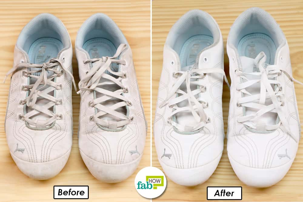 Your white sneakers are clean & white as new