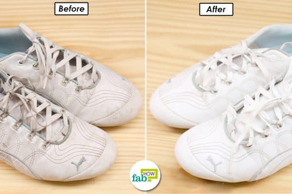 before after clean white sneaker