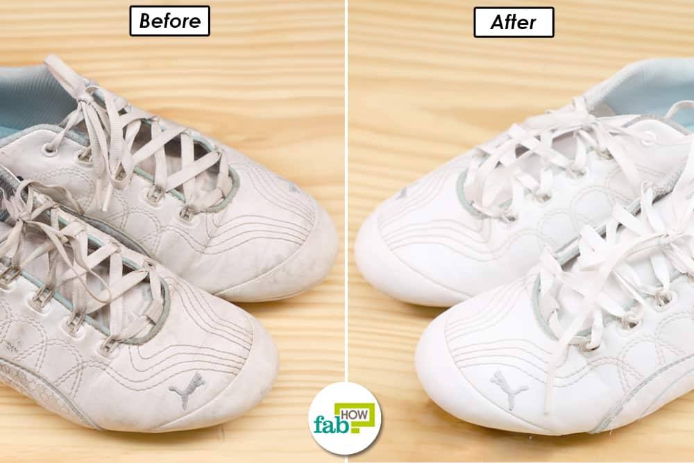 Clean your white sneakers the right way