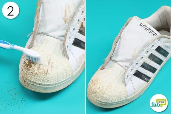 brush off the dirt