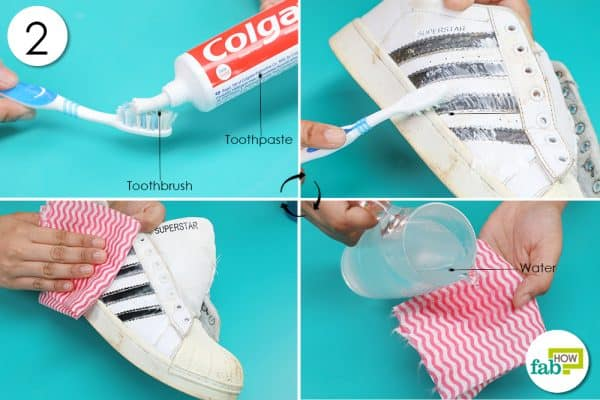 clean sides with toothpaste