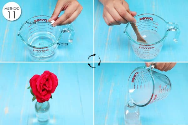 dissolve aspirin in water