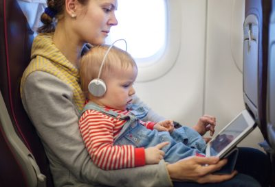 travel alone with baby