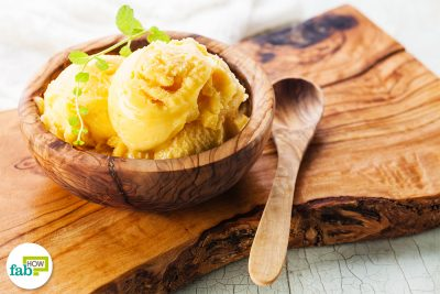insanely delicous mango ice cream
