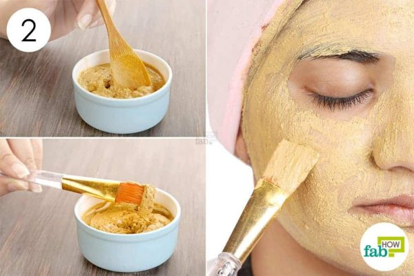 apply mud mask for acne
