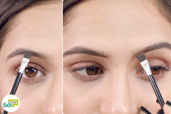outline brow with eyeliner eyebrow brush