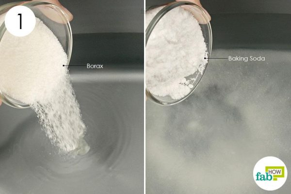 add borax and baking soda to water