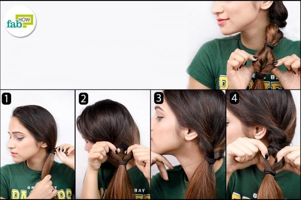twisted section ponytail