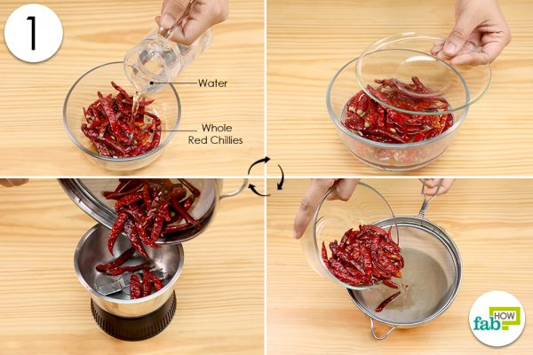 soak and grind red chillies