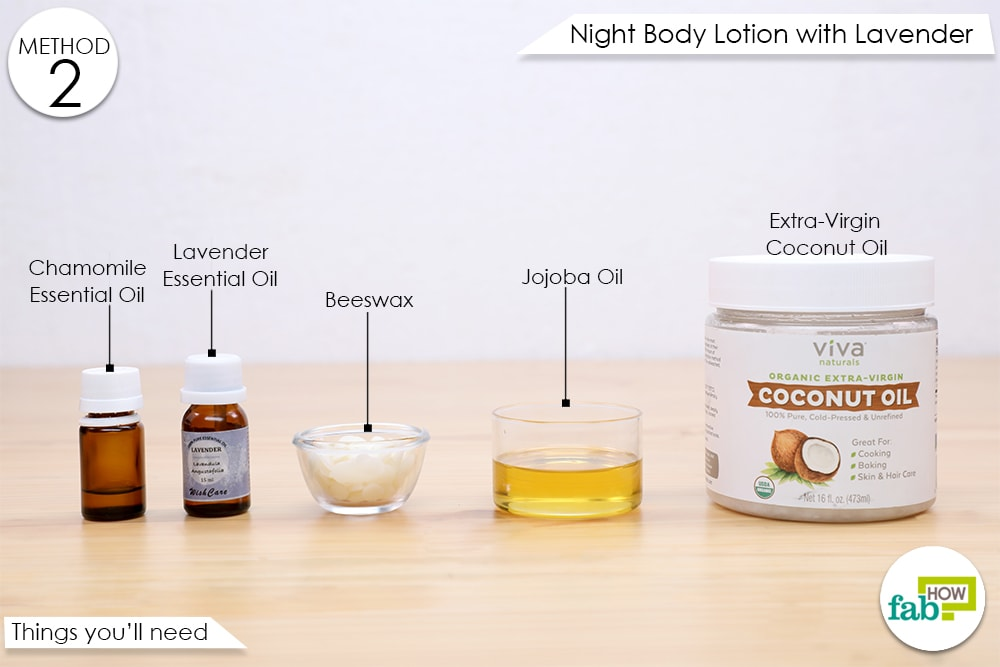 Get the ingredients for your homemade lotion