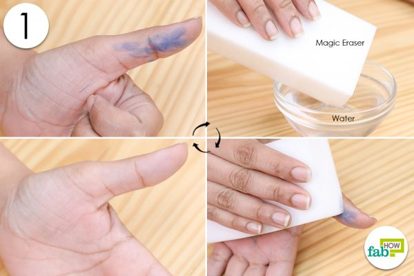 magic eraser for ink stain from hands