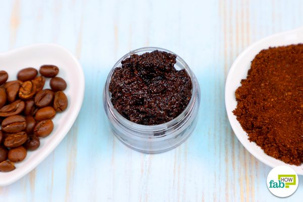 homemade coffe lip scrub