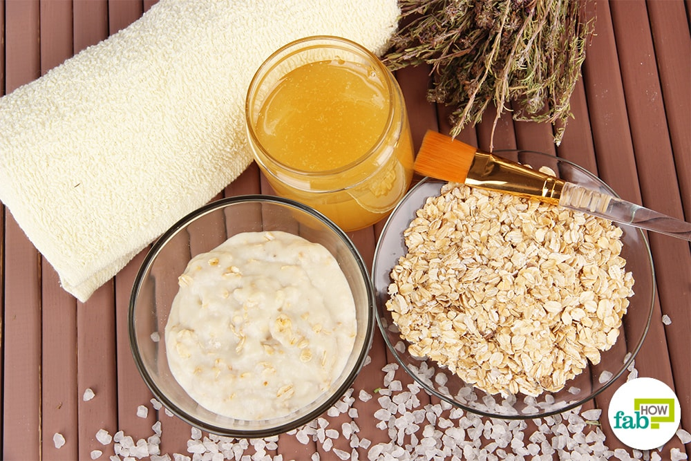 Try the all-natural homemade face masks with oatmeal