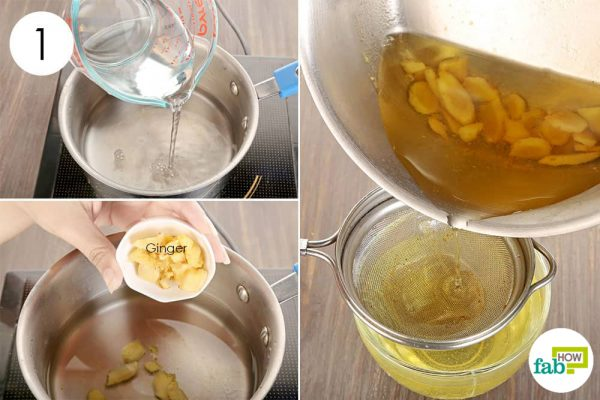 add ginger to boiling water