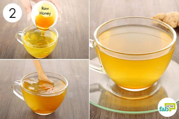 put honey in ginger tea