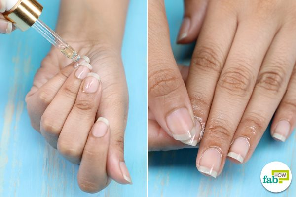 apply nail serum